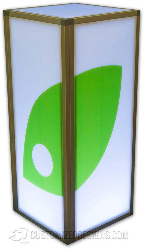 """e18 x 42"""" Modular Table w/ Wrapped Logo"""