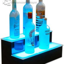 2 Tier Lighted Bottle Display