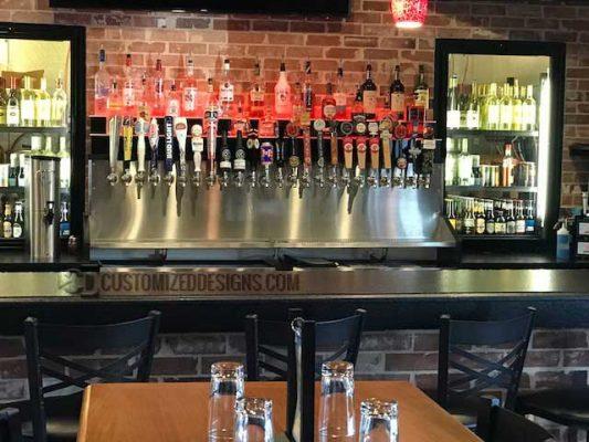 2 Tier Commercial Bar Tier Display - Bar Taps