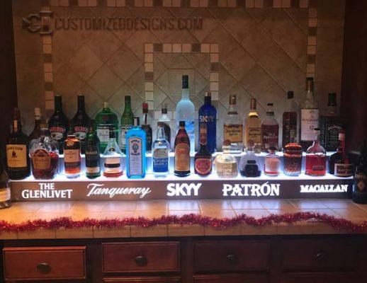 2 Tier Liquor Shelf w/ Stainless Steel Finish