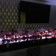 2 Step Home Bar w/ Huge Whiskey Collection