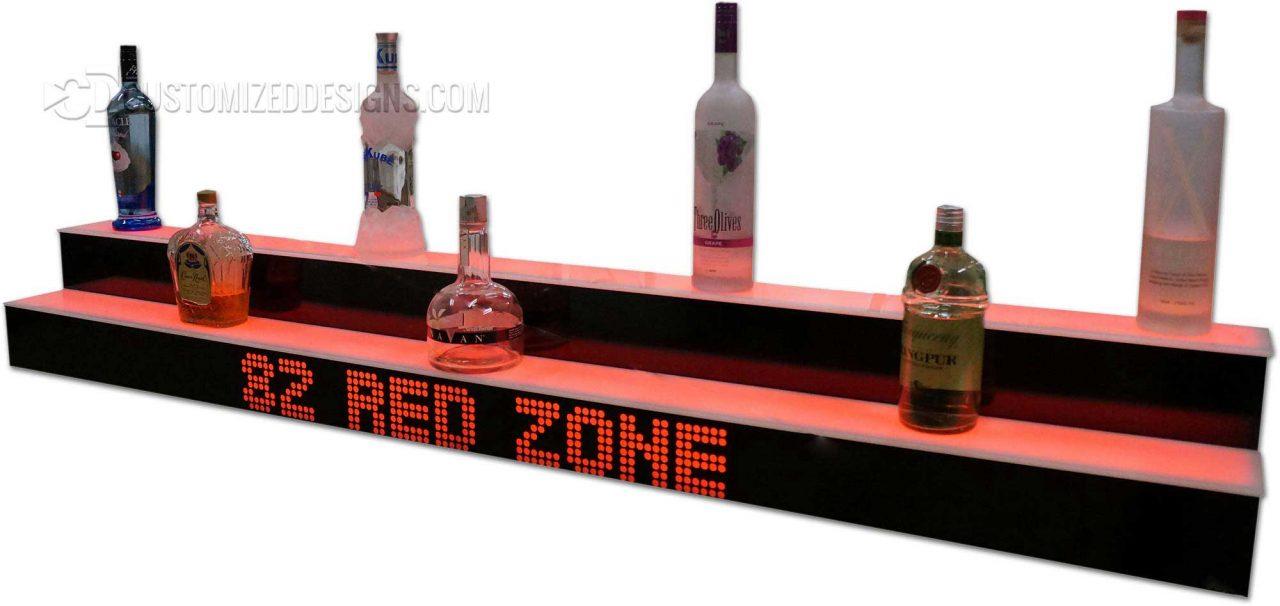 Sports Themed 2 Tier Liquor Display