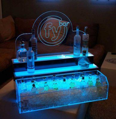 2 Tier Raised Ice & Liquor Display 2