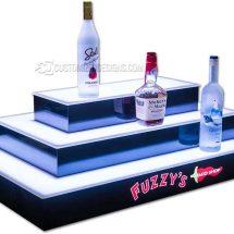 3 Step 4 Sided Island Bar Display w/ Fuzzy's Logo