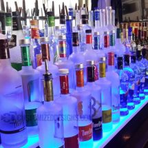 3 Step Lighted Liquor Displays