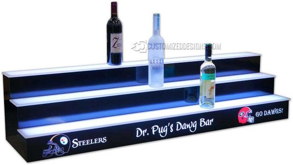 3 Tier Home Bar Display - Steelers - GA Dawgs