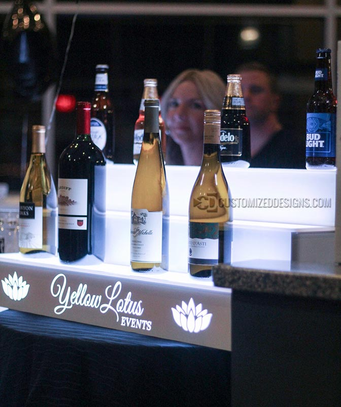 Wine Catering Bottle Display