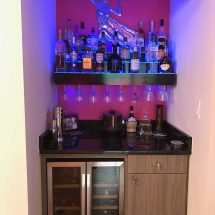 3 Tier Liquor Display w/ Wine Glass Holder