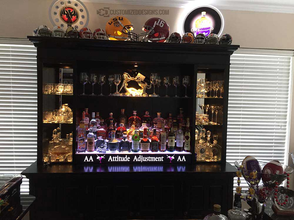 3 Tier Home Bar Display - Sports Theme