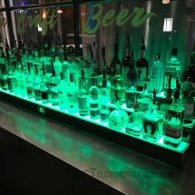 3 Tier Liquor Shelves w/ Green Lighting
