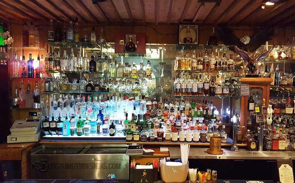 Commercial Back Bar Display Shelves