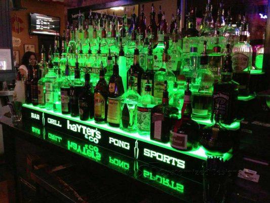 4 Tier Commercial Back Bar Shelving