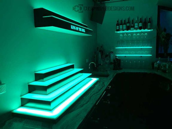 4 Tier Wrap Style Display & 2 Tier Wall Mounted Bar Shelves