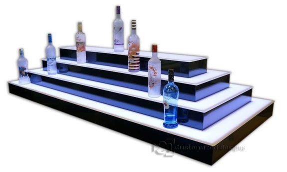 4 Tier 4 Sided Island Liquor Display
