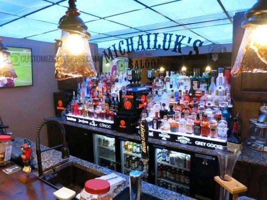 5 Tier LED Lighted Bar Shelves
