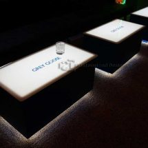 LED Coffee Tables w/ Grey Goose Logos