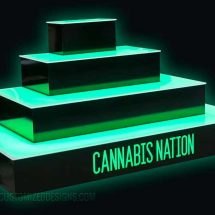 Wrap Style Cannabis Display Tiers
