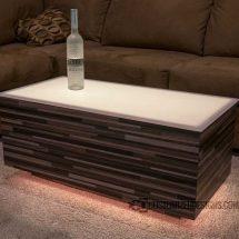 Cubix LED Nightclub Table with Modern Edge Finish