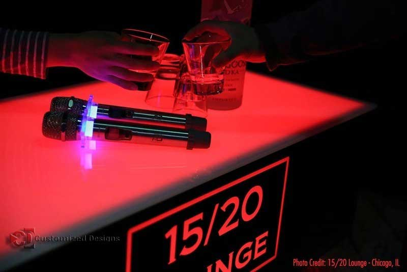 Cubix LED Table 15/20 Lounge