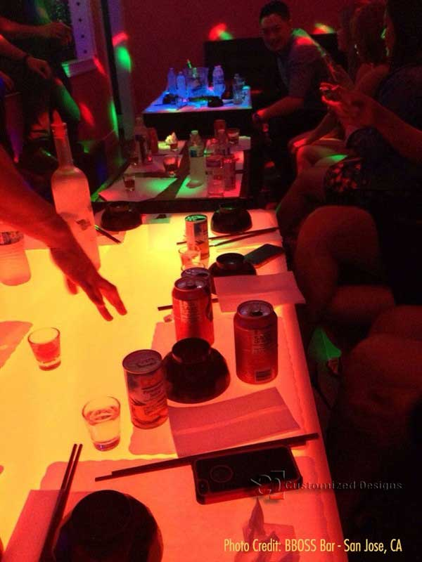 Lighted Nightclub and Lounge Table