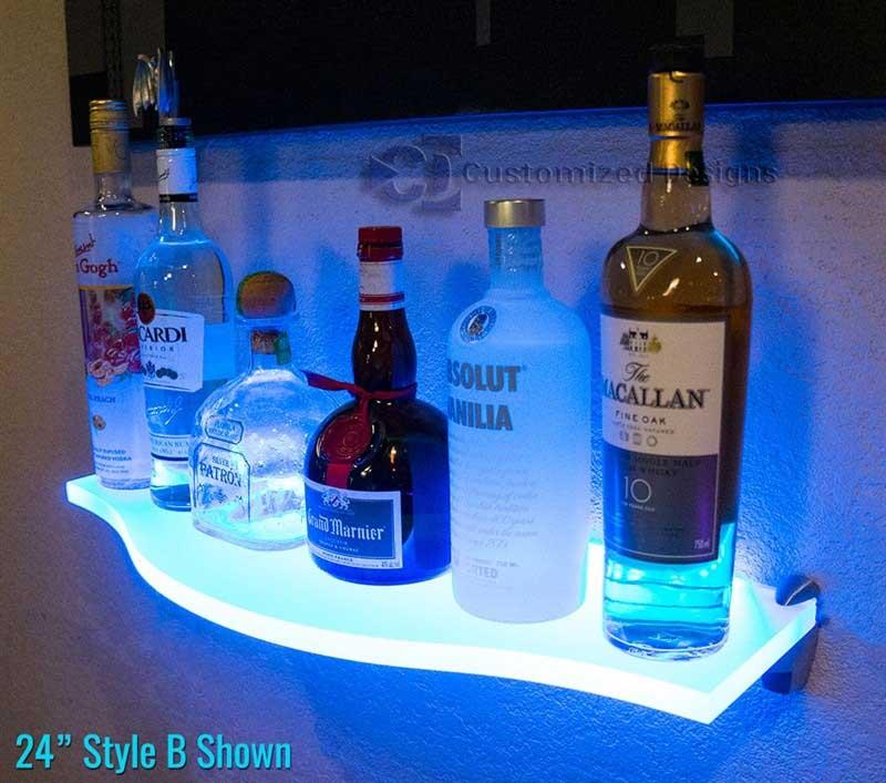 Curved LED Lighted Shelf