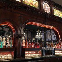 Custom Back Bar with Raised Bottle Displays