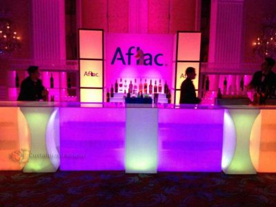 LED Event Bar Made w/ Lumen Series LED Tables