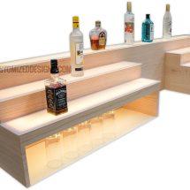 Custom Raised Bar Shelving w/ Storage & POS System Opening - 8