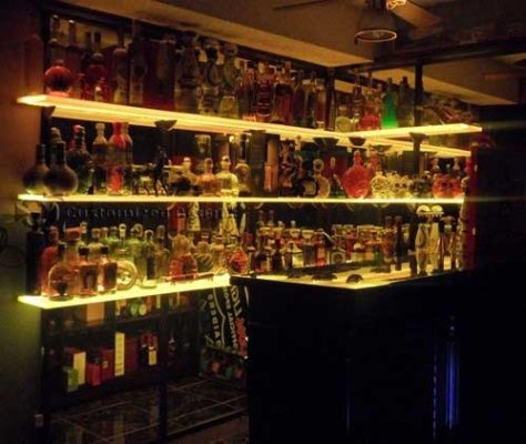 LED Shelving - Huge Tequila Collection