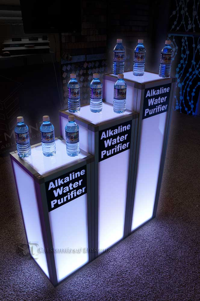 LED Lighted Trade Show Tables
