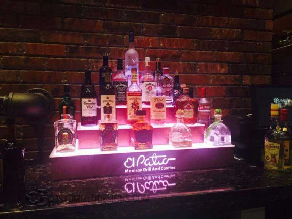 4 Tier Wrap Display - Mexican Restaurant - Copper Finish 2