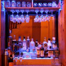 Home Bar Display & Wine Glass Shelving