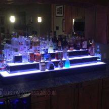 3 Tier Home Bar LED Liquor Shelves