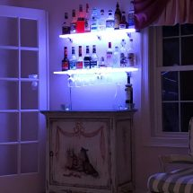 Home Mini Bar Display Shelves