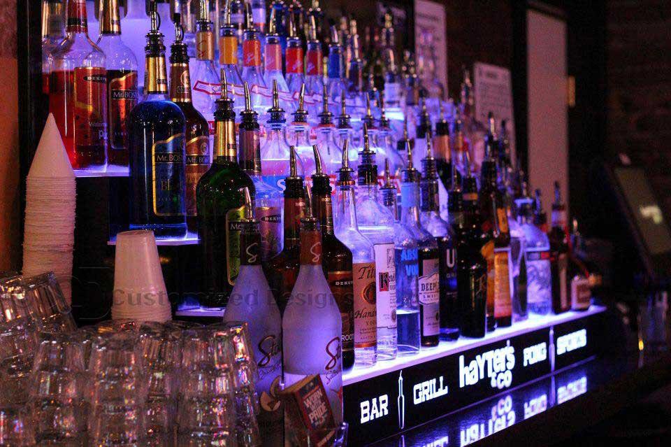 Lighted Bar Shelving