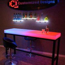 Custom Aurora Series LED High Boy Table