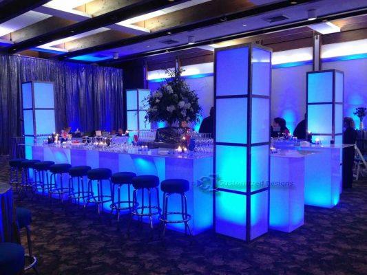 LED Illuminated Event Furniture & Towers