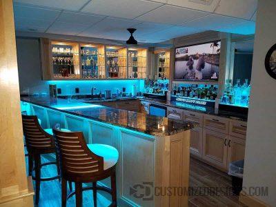 LED Lighted Home Bar