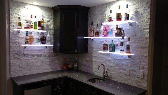Curved LED Lighted Shelves