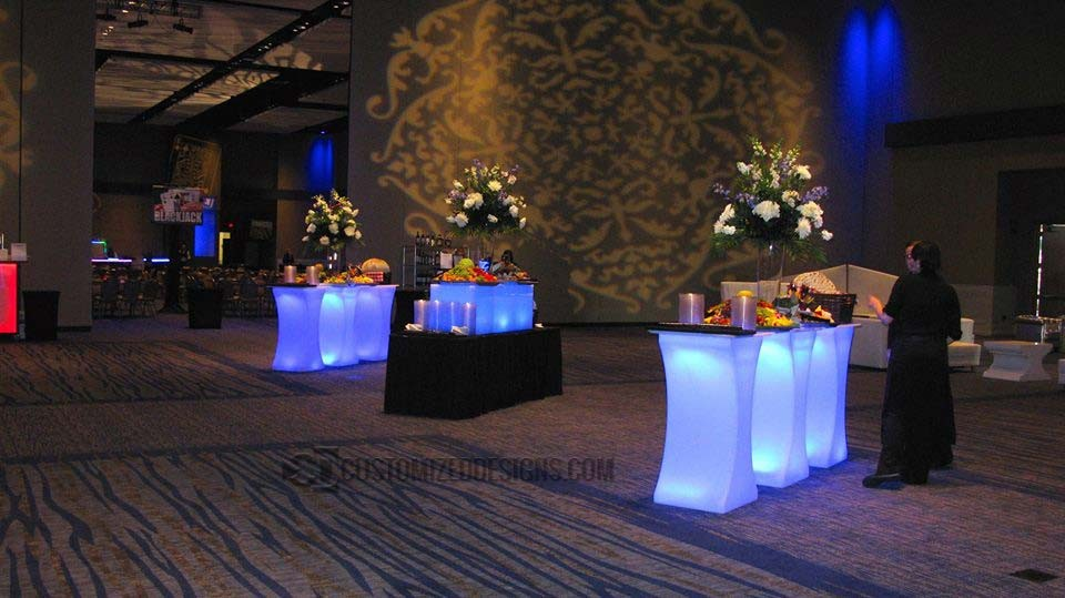 Curve LED Special Event Tables