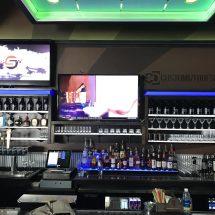 Commercial Back Bar w/ LED Shelving & Liquor Displays