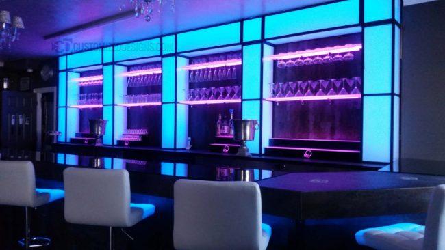 Awesome Nightclub Bar Shelving Installation