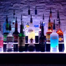 3 Tier Wrap Style Lighted Bottle Display Shelf
