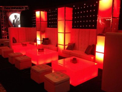 James Bond Themed Event w/ LED Furniture