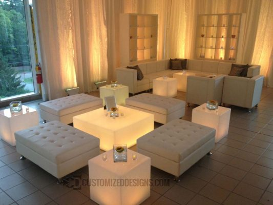 LED Lighted Coffee Table