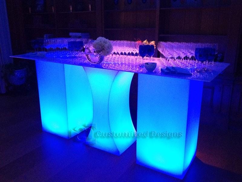 Curve LED Lighted High Boy Tables 2