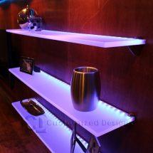 LED Illuminated Floating Shelf