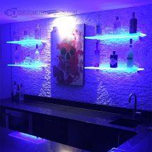 Modern Home Bar w/ Lighted Shelves