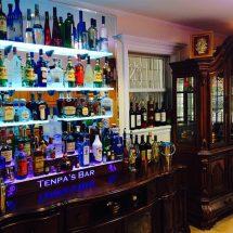 Home Bar LED Shelving & Liquor Display Tiers w/ Lighted Logo