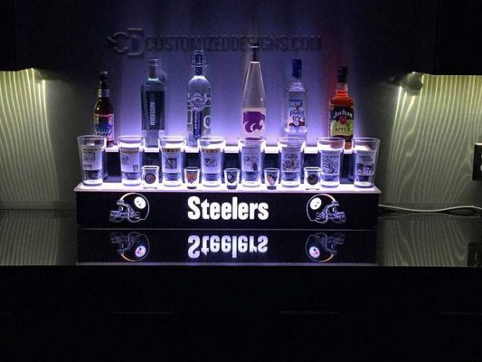 Pittsburgh Steelers Themed Two Tier Liquor Display
